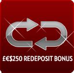 $250 Redeposit bonus